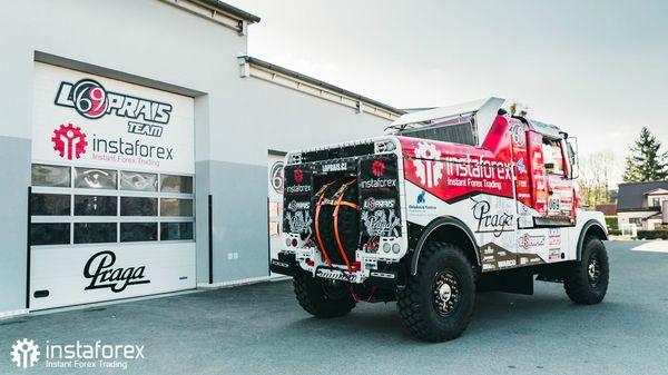 InstaForex Loprais Team testing Praga V4S DKR for Dakar 2020