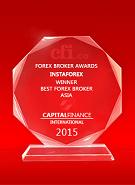 Capital Finance International тұжырымы бойынша Азияның үздік брокері 2015
