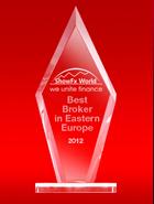 รางวัล ShowFx World ปี 2012 - โบรกเกอร์ที่ดีที่สุดแห่งยุโรปตะวันออก  (The Best Broker in Eastern Europe)