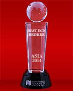 International Finance Magazine тұжырымы бойынша Азияның үздік ECN брокері 2014