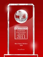 รางวัล World Finance Awards ปี 2011 – โบรกเกอร์ที่ดีที่สุดแห่งเอเชีย (Best broker in Asia)
