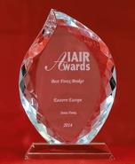 IAIR Awards тұжырымы бойынша Шығыс Еуропаның Үздік брокері 2014