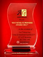 รางวัล Forex & Investment Summit ปี 2011 - ผู้ให้บริการ FX รายย่อยที่ดีที่สุด (The Best Retail FX Provider1)