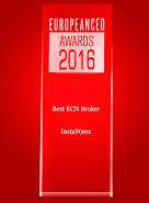 รางวัล  Best ECN Broker 2016 จาก European CEO Awards