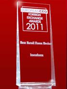 รางวัล European CEO Awards ปี 2011 – โบรกเกอร์รายย่อยที่ดีที่สุด (The Best Retail Broker)